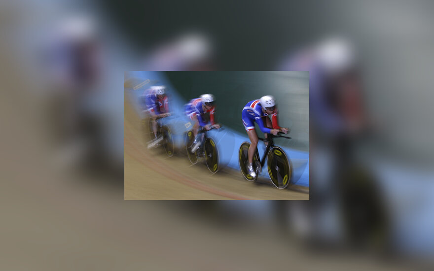 Britų dviratininkės pasauliniame čempionate Mančesteryje (Anglija)