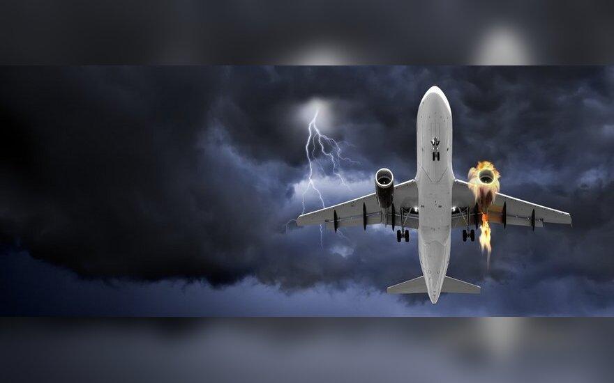 Lėktuvas, liepsnos, gaisras, ugnis
