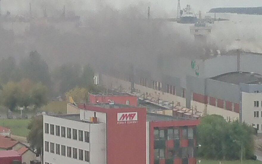 В Клайпеде горела фабрика Grigeo