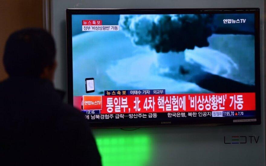 Šiaurės Korėja pareiškė susprogdinusi vandenilinę bombą