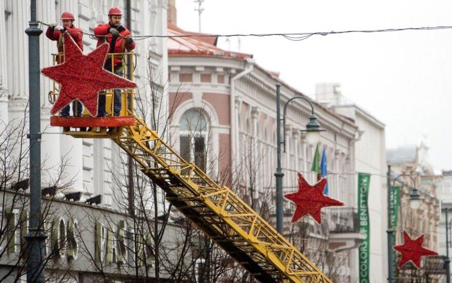 Вильнюс готовится к рождественским праздникам