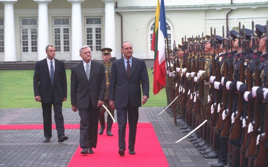 Адамкус: Жак Ширак восхищался литовским гостеприимством