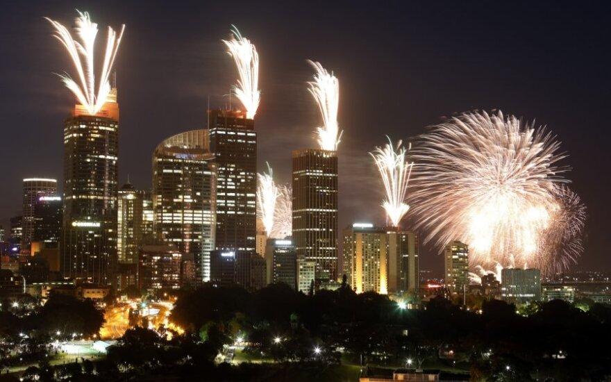 Новый год пришел в Австралию и Новую Зеландию