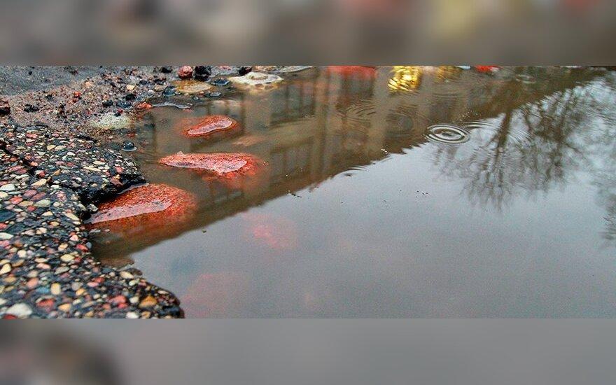 Самая дорогая яма в Вильнюсе: ремонт авто обойдется в 17 000 литов