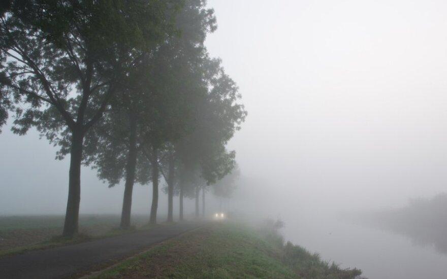 На большей части Литвы – туман