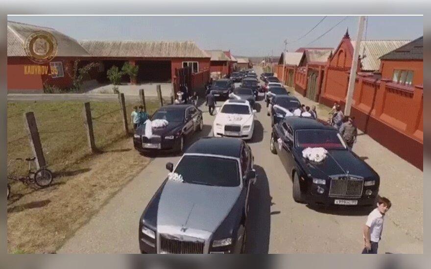 Кадыров опубликовал видео со свадьбы своего племянника