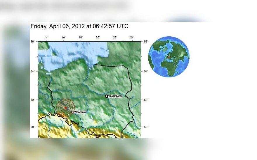 Lenkijoje – žemės drebėjimas, usgs.gov duomenys