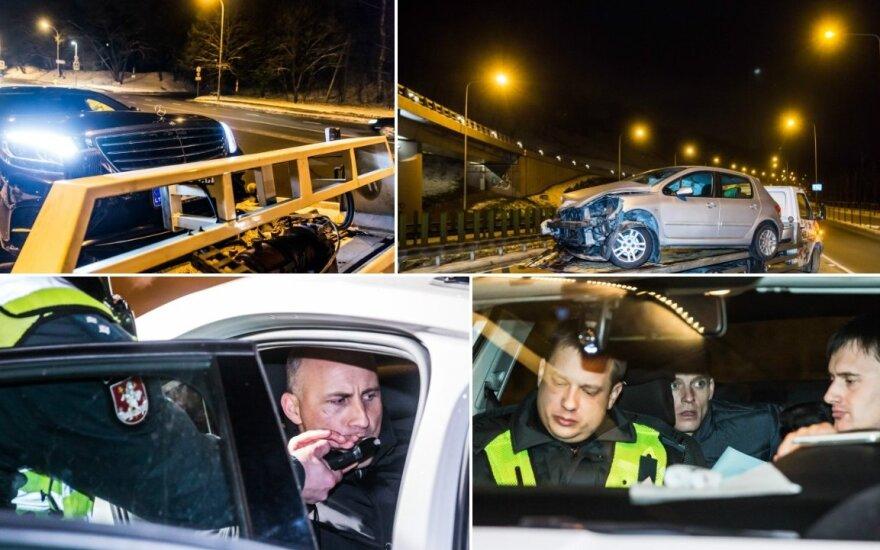 Рейд в Вильнюсе: как пьяные водители били машины