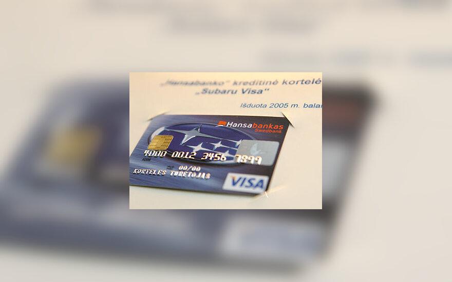 """Netradicinė """"Visa"""" mokėjimo kortelė"""