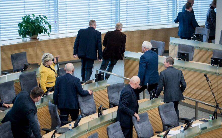 Сейм Литвы решит вопрос сокращения числа депутатов в порядке особой срочности
