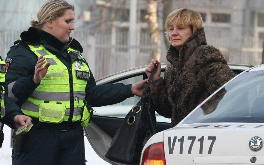 Нетрезвая дама мчалась по Вильнюсу, разбивая машины