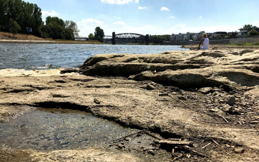 Аномальная жара в ФРГ: в обмелевших реках находят бомбы времен войны