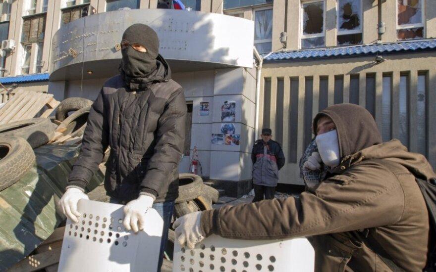 Separatistų užimtas Saugumo pastatas Luhanske
