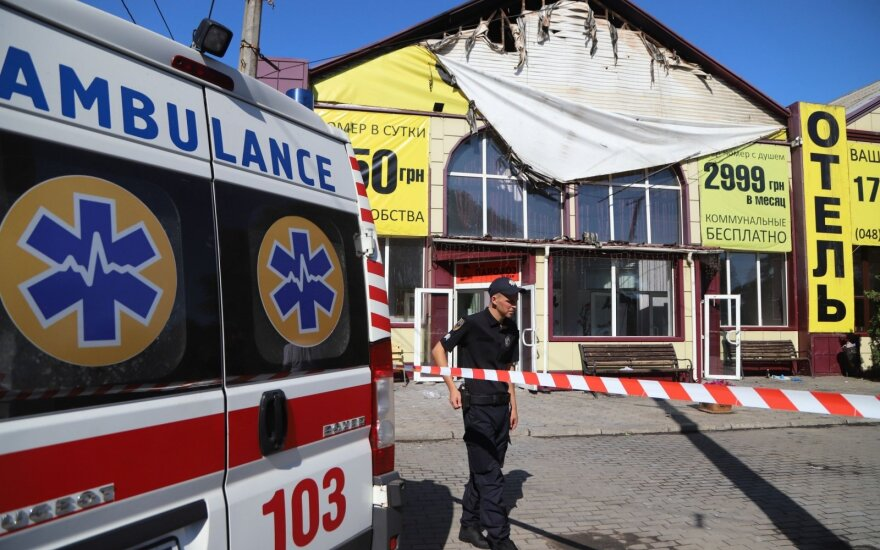 Odesos viešbutyje gaisras