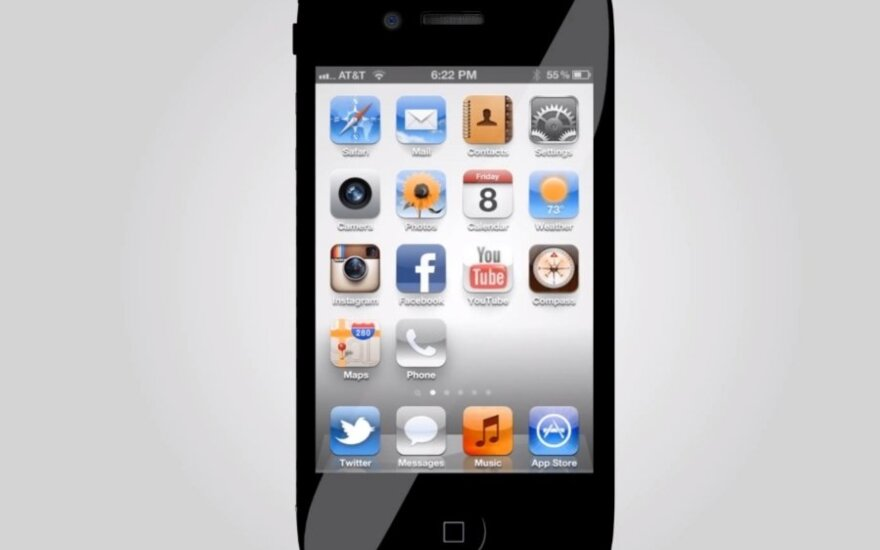 "Galima ""iPhone 5"" išvaizda"