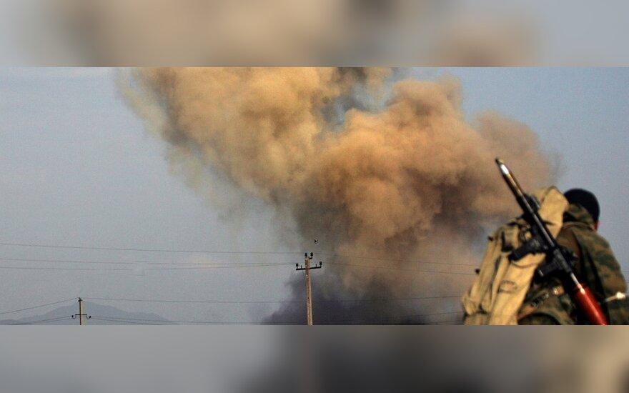 """Čečėnų batalionas """"Vostok"""" P.Osetijoje puola gruzinų Nikozi kaimą"""