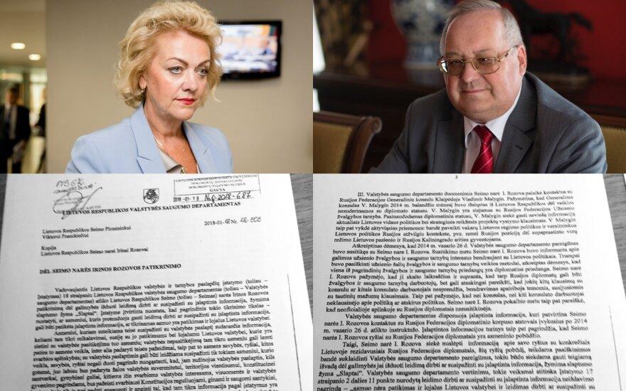 Справка госбезопасности Литвы показала, что депутат Розова согласовывала с российскими дипломатами
