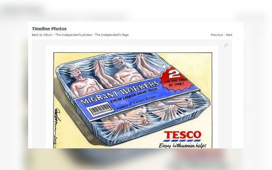 Karykatura obrażająca Litwinów. Oburzenie Ambasador i odpowiedź internautów