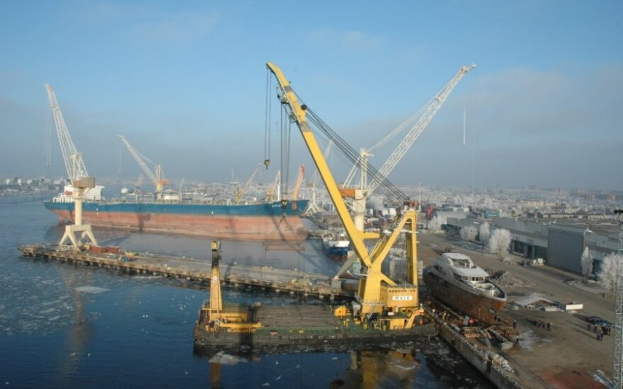 В Клайпедском порту упали объемы погрузок