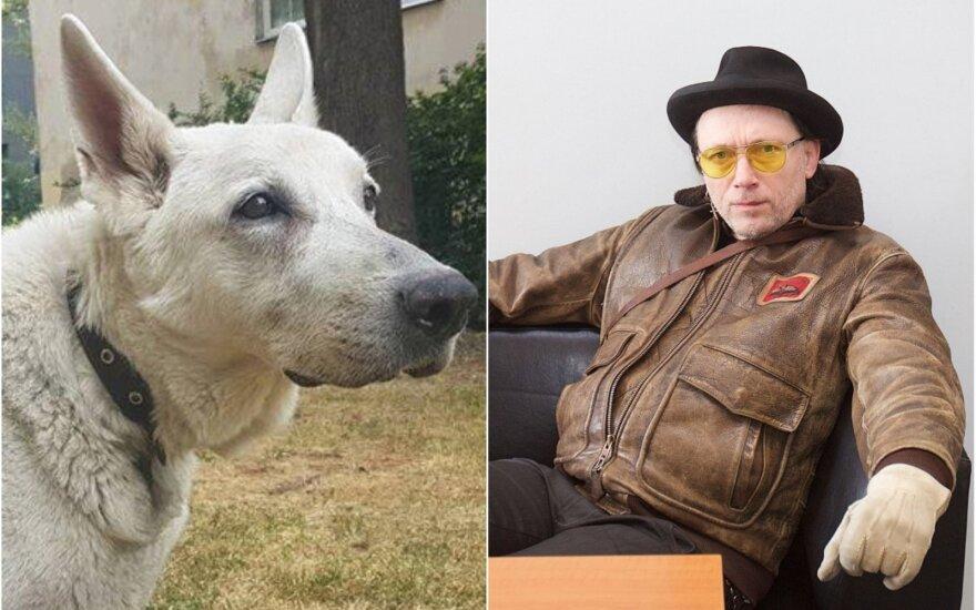 Linas Cicėnas ir jo šuo Argo