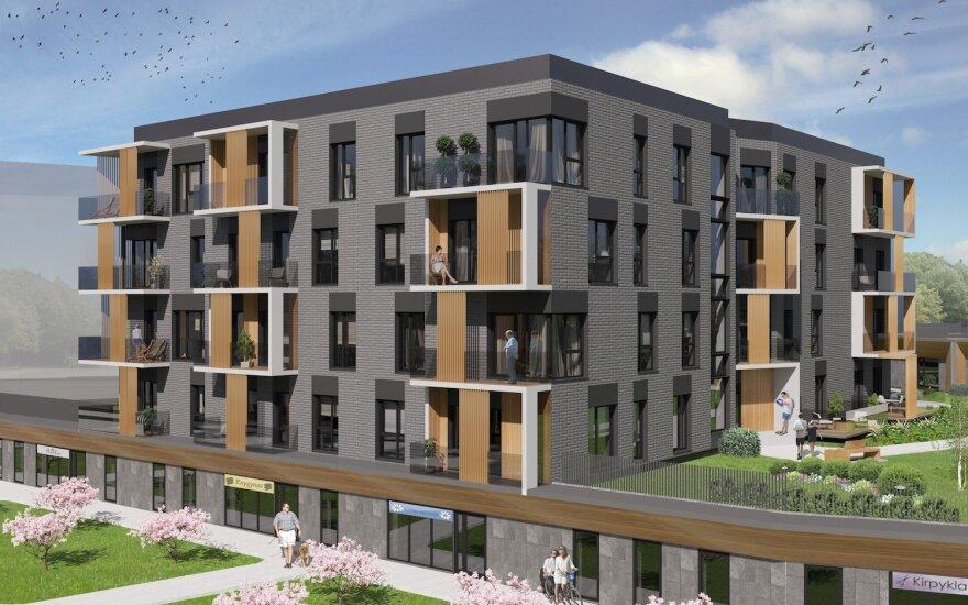 В центре Вильнюса строят роскошные апартаменты