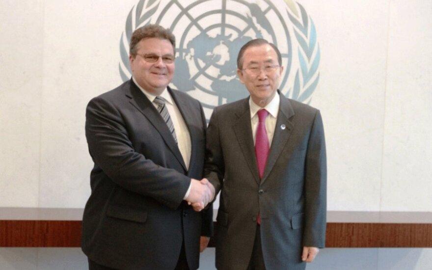Линкявичюс рассказал главе ООН о подготовке к председательству Литвы в ЕС