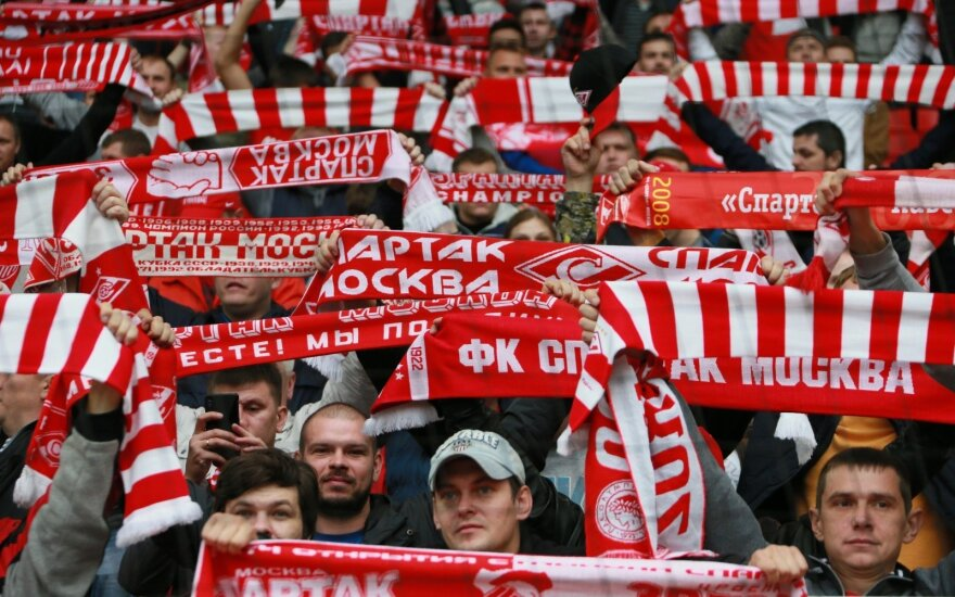 """Maskvos """"Spartak"""" fanai"""