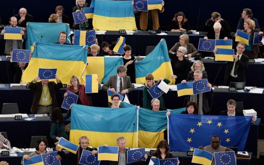 Europarlamentarai išreiškė palaikymą Ukrainai