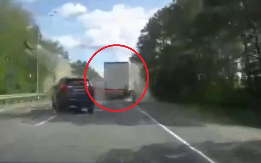 Wybuch ciężarówki