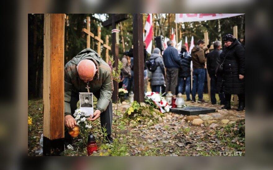 В урочище Куропаты под Минском около 200 человек прошли крестным ходом