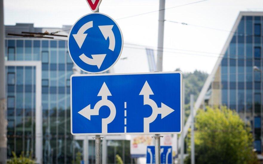 Напоминание водителям: меняется порядок движения на круговом перекрестке у педагогического вуза