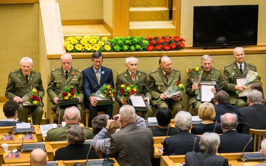 Семерым литовским партизанам вручили премию Свободы