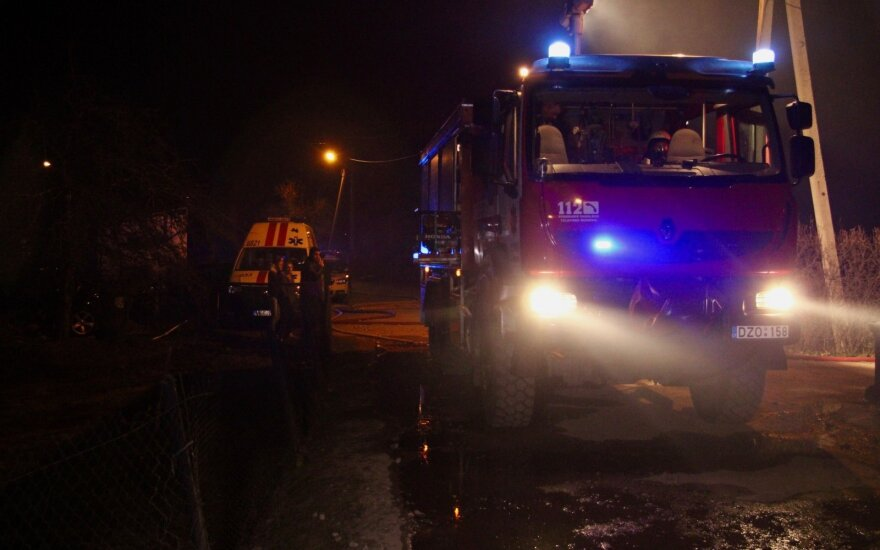 В четверг вечером в Вильнюсе сгорели три дома