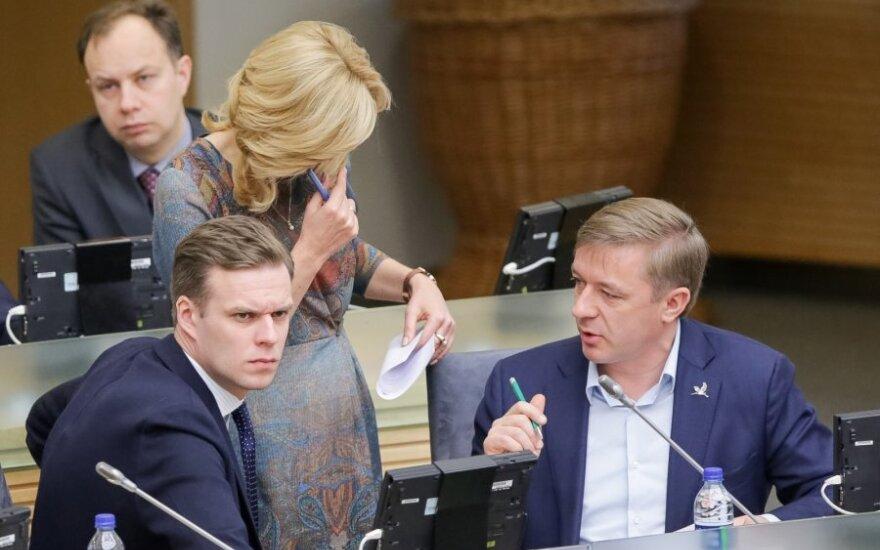Gabrielius Landsbergis, Ramūnas Karbauskis