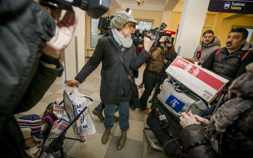 Первая приехавшая в Литву семья беженцев обратилась в суд