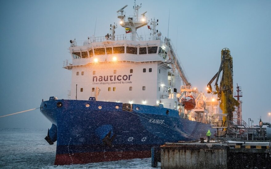 """SGD bunkeriavimo ir transportavimo laivas """"Kairos"""" / KN nuotr."""
