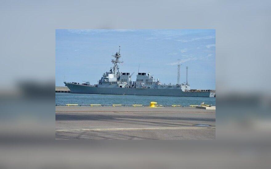 """В Таллине причалил эсминец ВМФ США """"Оскар Остин"""""""