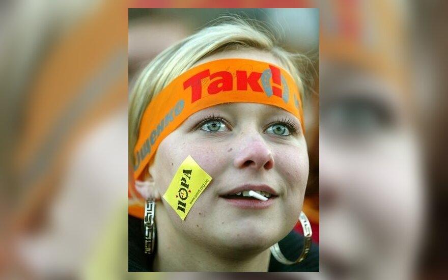 """Ukrainoje - """"oranžinė revoliucija"""""""