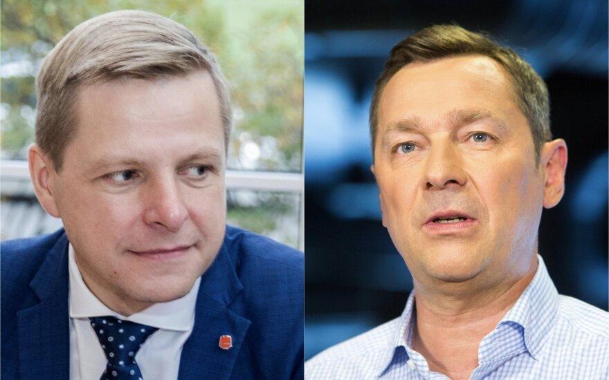 Во второй тур выборов мэра Вильнюса вышли бывший и нынешний мэры - Зуокас и Шимашюс