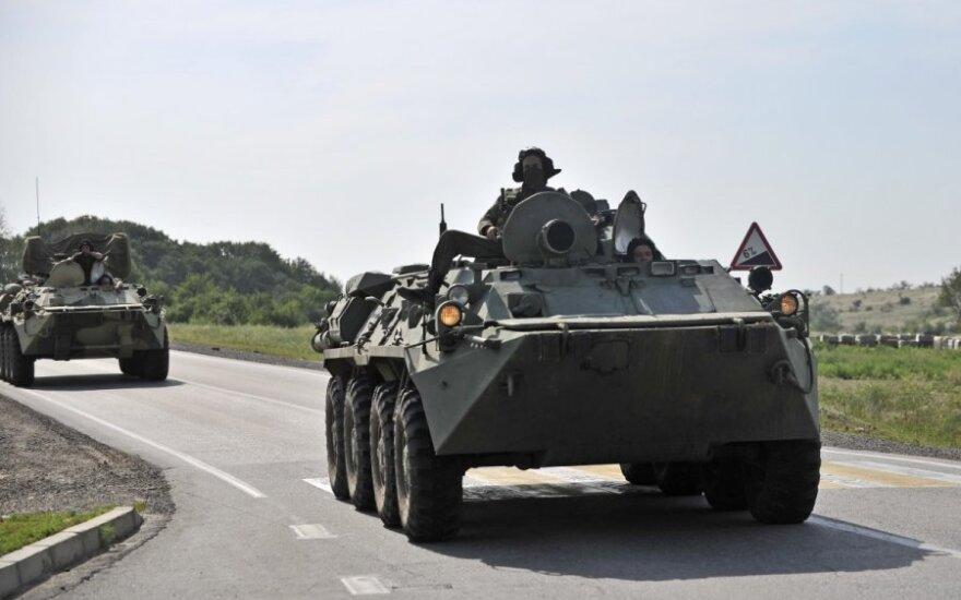 В Абхазии машина БТР упала в ущелье: погибли трое российских военных