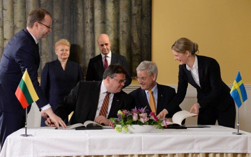 Подписан договор о морской границе между Литвой и Швецией