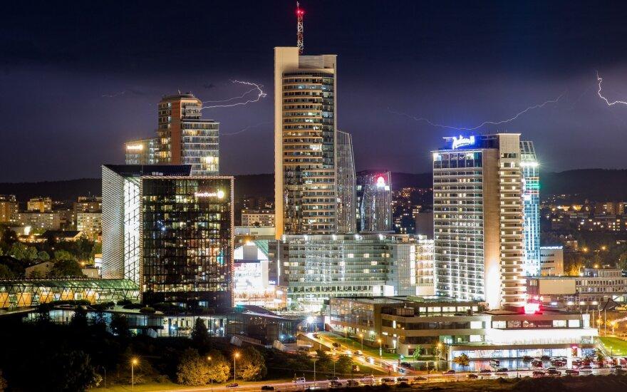 В столице Литвы в понедельник вечером разразилась гроза
