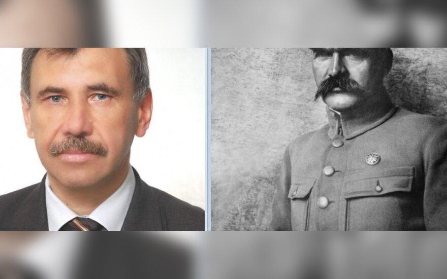 Zbigniew Jedziński i Józef Piłsudski