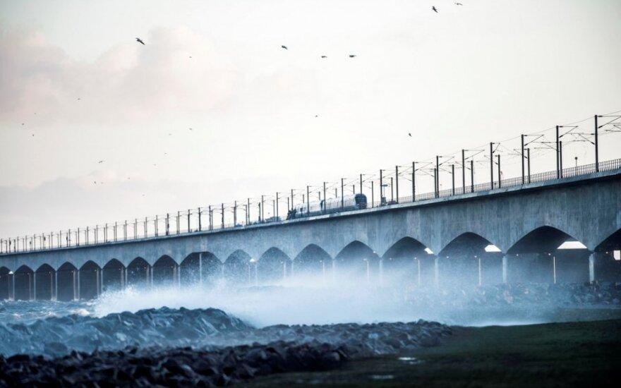 Per traukinio avariją Danijoje žuvo 6 žmonės
