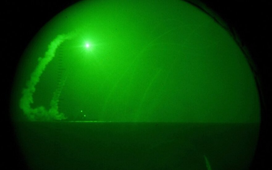 """JAV karinis laivas """"USS Barry"""""""