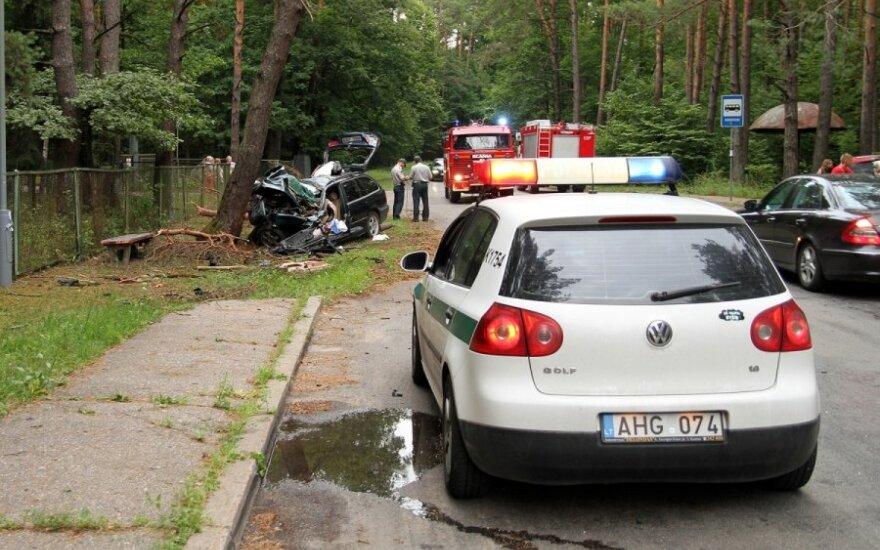 После удара в дерево водитель не выжил