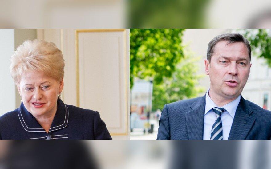 Dalia Grybauskaitė ir Artūras Zuokas