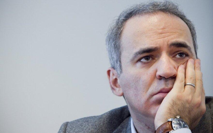 Rusijos opozicionierius, žymus šachmatininkas Garis Kasparovas