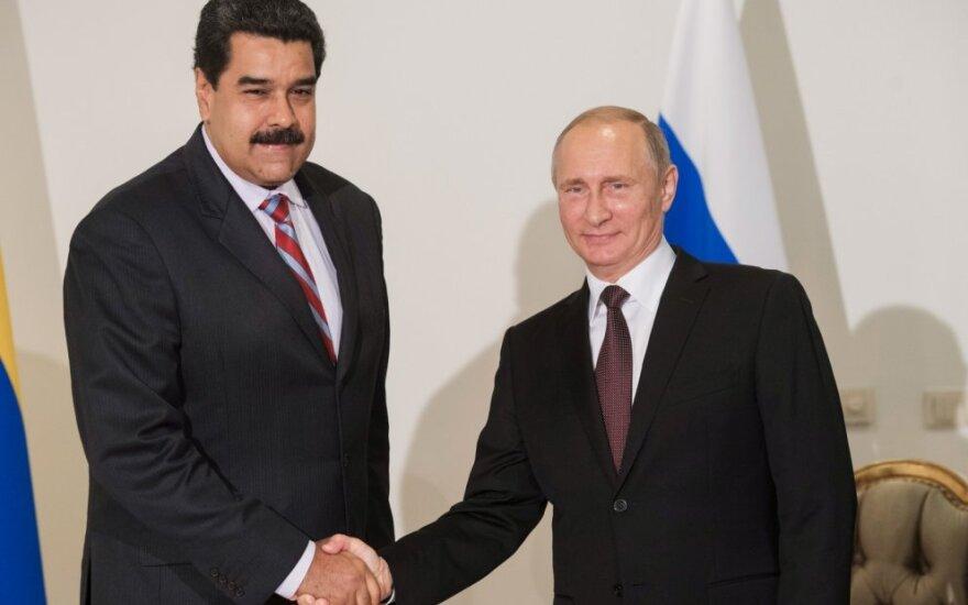 Nicolas Maduro ir Vladimiras Putinas