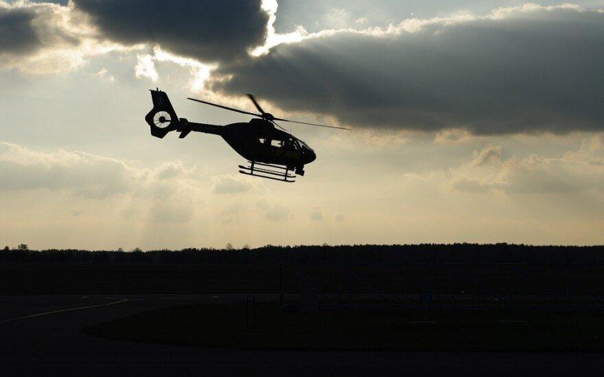 В Каунасе пропал молодой человек, на поиски вылетел вертолет
